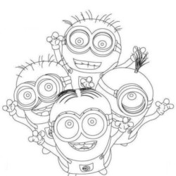 Minions Coloring Pages Bob