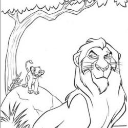 Desenhos Do Rei Leao Para Imprimir E Colorir