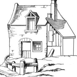 desenhos de casas desenhos e colorir