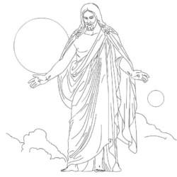 Desenhos De Jesus Para Imprimir E Colorir