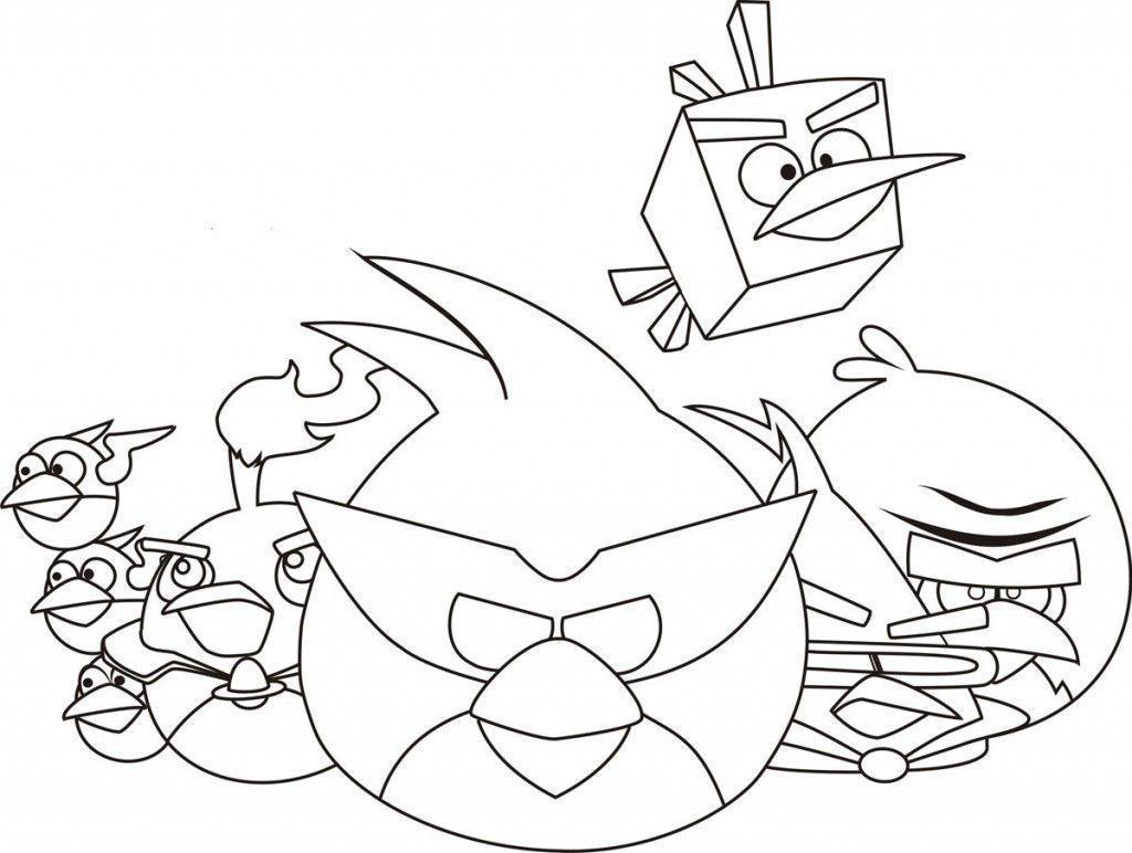 Desenho Angry Birds Menina Para Colorir