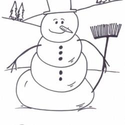 Desenhos De Bonecos De Neve Para Imprimir E Colorir